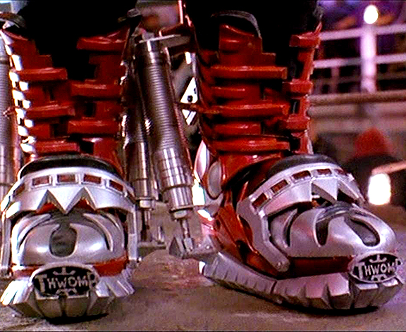 Thwomp Stompers as worn by Big Bertha.